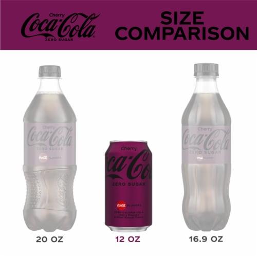 Coca-Cola Cherry Zero Sugar Soda Perspective: left