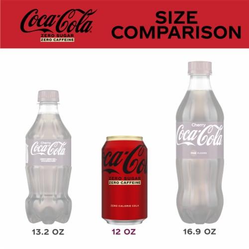 Coca-Cola Zero Sugar Caffeine-Free Soda Perspective: left
