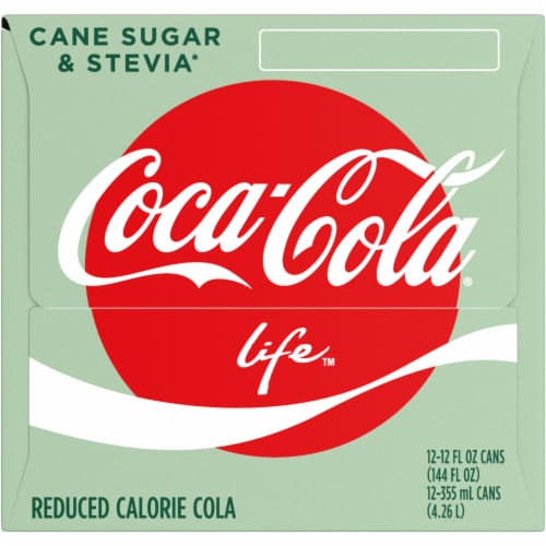 Coca-Cola Life Reduced-Calorie Soda with Stevia Perspective: left