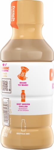 Dunkin' Donuts French Vanilla Iced Coffee Perspective: left