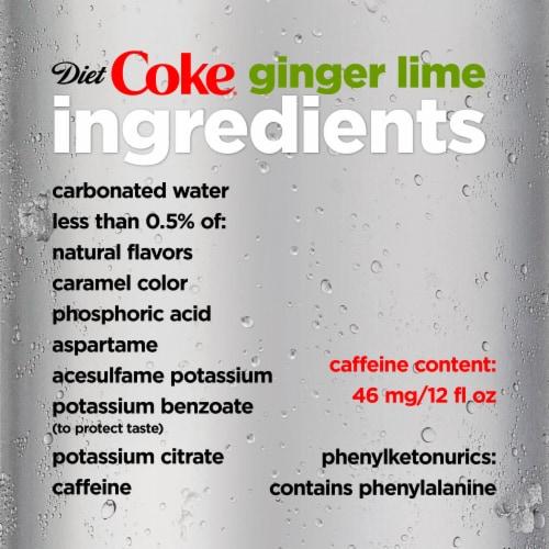 Diet Coke Ginger Lime Soda Perspective: left