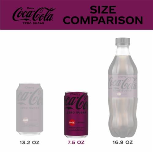 Coca-Cola Zero Sugar Cherry Flavored Cola Perspective: left