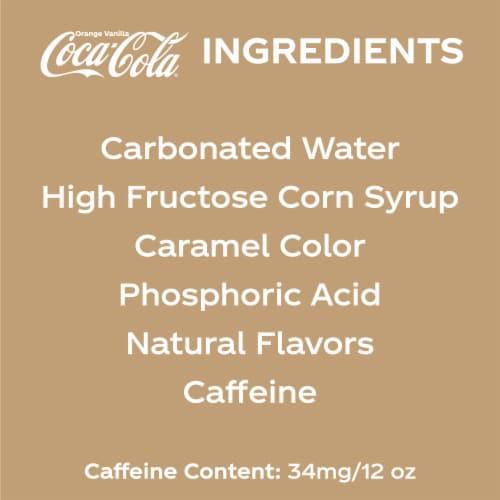 Coca-Cola Orange Vanilla Cola Soda Perspective: left