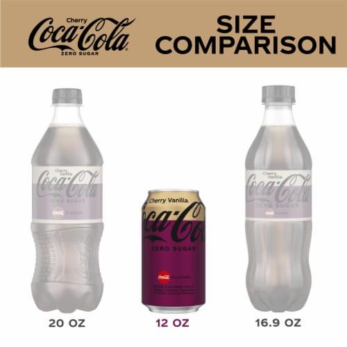 Coca-Cola Cherry Vanilla Zero Sugar Cola Soda Perspective: left