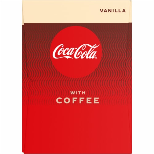 Coca-Cola with Coffee Vanilla Cans, 12 fl oz, 4 Pack Perspective: left