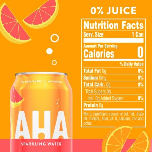 AHA Orange Grapefruit Sparkling Water Perspective: left