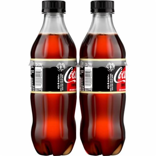 Coca-Cola Zero Sugar Vanilla Cola Soda Perspective: left