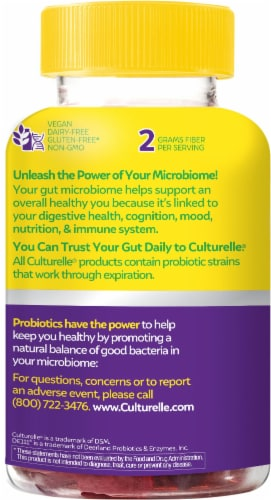 Culturelle Mixed Berry Probiotic Gummies Perspective: left