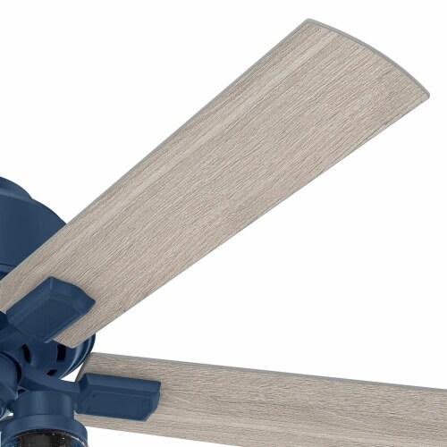 Hunter Fan Company Hartland 52  Indoor Home Low Profile Ceiling Fan w/ LED Light Perspective: left