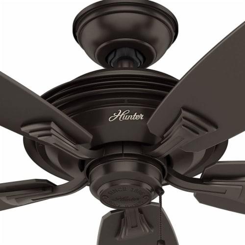 Hunter Fan Company Rainsford 52 Inch Ceiling Fan w/ Pull Chain Control, Bronze Perspective: left