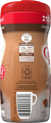 Nestle Coffee mate Chocolate Creme Powder Coffee Creamer Perspective: left