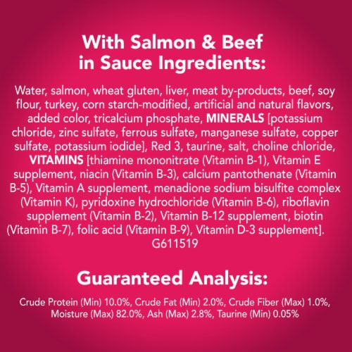 Friskies® Prime Filets with Salmon & Beef in Sauce Wet Cat Food Perspective: left