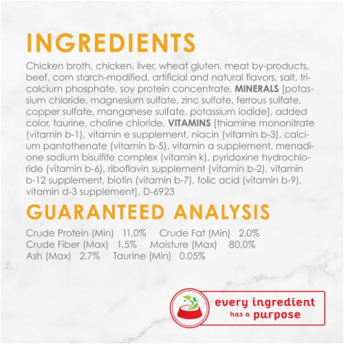 Fancy Feast Grilled Chicken & Beef Feast in Gravy Wet Cat Food Can Perspective: left