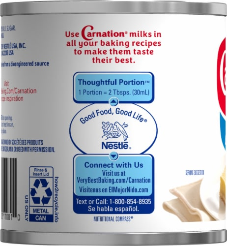 Carnation Sweetened Condensed Milk Perspective: left