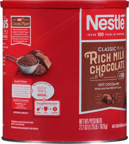 Nestlé Rich Milk Chocolate Hot Cocoa Mix Perspective: left