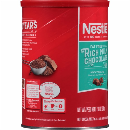Nestle Fat Free Rich Milk Chocolate Hot Cocoa Mix Perspective: left