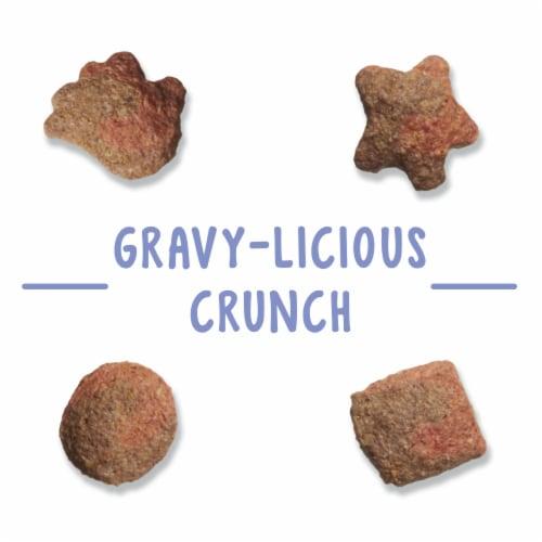Friskies Party Mix Gravylicious Crunch Turkey & Gravy Flavored Cat Treats Perspective: left