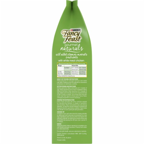Fancy Feast Gourmet Naturals with White Meat Chicken Dry Cat Food Perspective: left