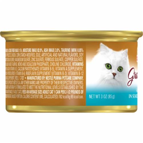 Fancy Feast Gravy Lovers Salmon & Sole Feast in Seared Salmon Gravy Wet Cat Food Perspective: left