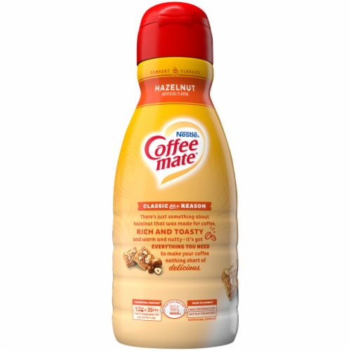 Nestle Coffee mate Hazelnut Liquid Coffee Creamer Perspective: left