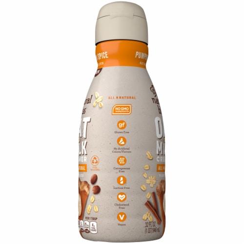 Coffee-mate Natural Bliss Pumpkin Spice Oat Milk Liquid Coffee Creamer Perspective: left