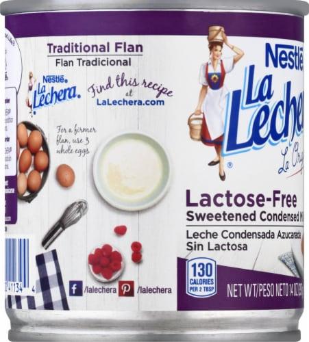 Nestle La Lechera Lactose Free Sweetened Condensed Milk Perspective: left