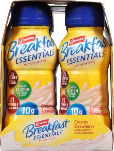 Carnation Breakfast Essentials Creamy Strawberry Drink Perspective: left