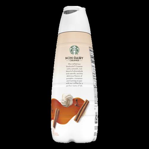 Starbucks® Non-Dairy Almondmilk & Oatmilk Pumpkin Spice Latte Creamer Perspective: left