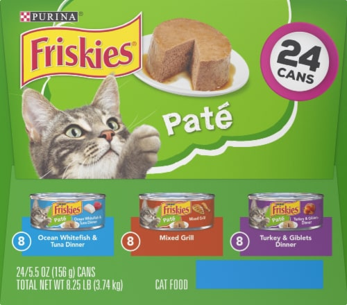 Friskies Pate Adult Wet Cat Food Variety Pack Perspective: left