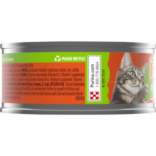 Purina Friskies Pate Chicken & Tuna Dinner Wet Cat Food Perspective: left
