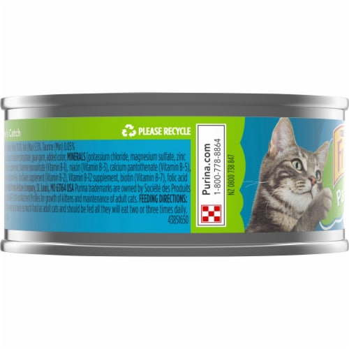 Friskies Pate Mariner's Catch Wet Cat Food Perspective: left