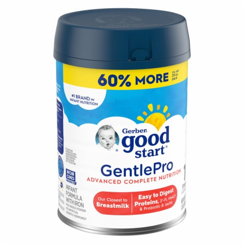 Gerber Good Start GentlePro Everyday Probiotics Infant Formula with Iron Powder Perspective: left