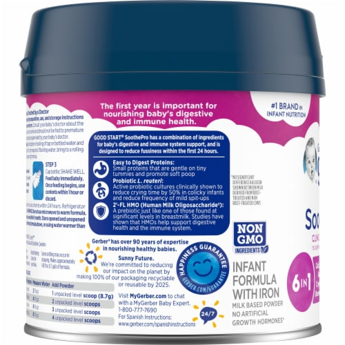 Gerber Good Start Comforting Probiotics Milk Based Infant Formula Powder Perspective: left