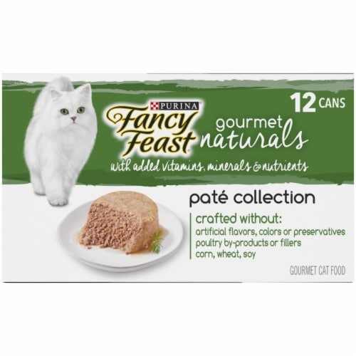 Fancy Feast Gourmet Naturals Pate Collection Wet Cat Food Perspective: left