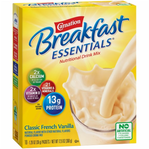 Carnation Breakfast Essentials Classic French Vanilla Powder Drink Mix Perspective: left