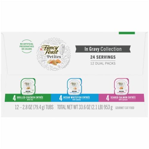 Fancy Feast Petites In Gravy Collection Gourmet Cat Food Perspective: left
