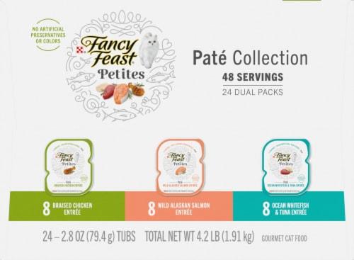 Fancy Feast® Petites Pate Collection Wet Cat Food Perspective: left