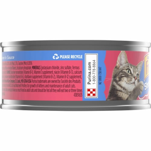Purina Friskies Shreds with Salmon in Sauce Wet Cat Food Perspective: left