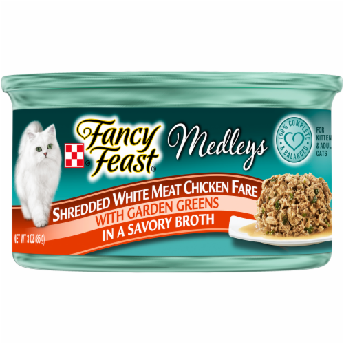 Fancy Feast Medleys Shredded Fare Collection Wet Cat Food Variety Pack Perspective: left
