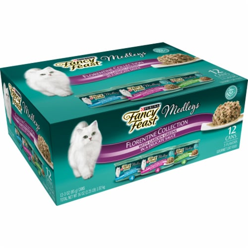 Fancy Feast Medleys Florentine Collection Wet Cat Food Variety Pack Perspective: left