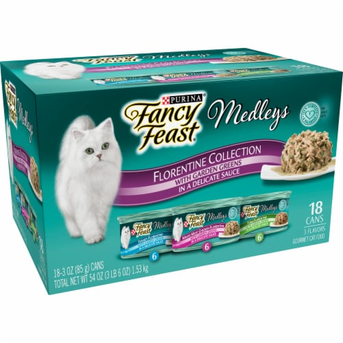 Fancy Feast Gourmet Cat Food Medleys Florentine Collection Variety Pack Perspective: left