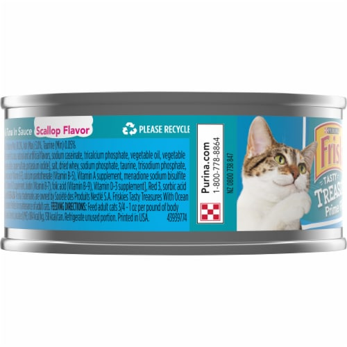 Purina Friskies Tasty Treasures with Ocean Fish Tuna and Scallop in Sauce Adult Wet Cat Food Perspective: left