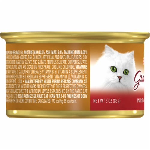 Fancy Feast Gravy Lovers Beef Feast in Roasted Beef Flavor Gravy Wet Cat Food Perspective: left