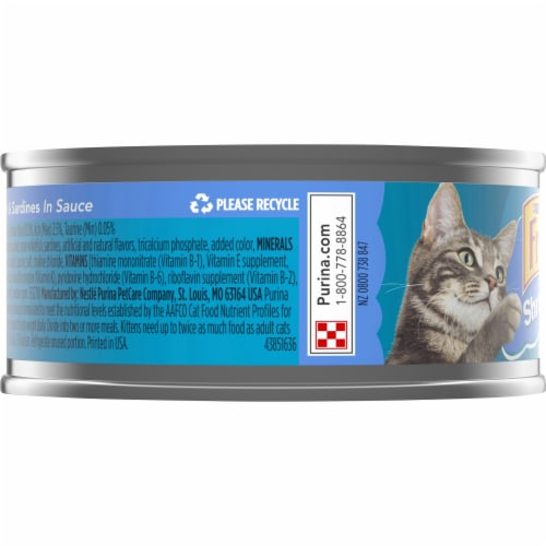 Purina Friskies Shreds with Whitefish & Sardines in Sauce Wet Cat Food Perspective: left