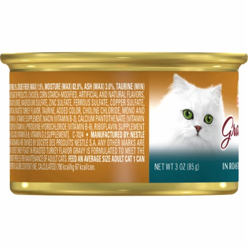 Fancy Feast Gravy Lovers Turkey Feast in Roasted Turkey Flavor Gravy Wet Cat Food Perspective: left