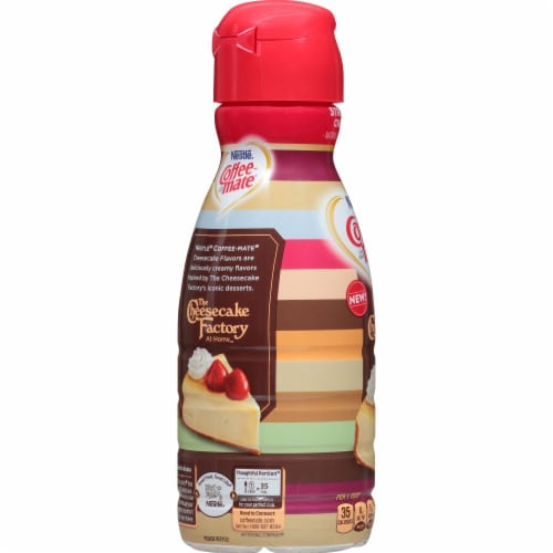 Coffee-mate The Cheesecake Factory Strawberry Cheesecake Flavored Coffee Creamer Perspective: left