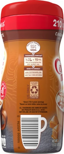 Coffee-mate Caramel Latte Powder Coffee Creamer Perspective: left
