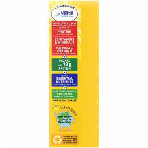 Carnation Breakfast Essentials® High Protein Classic French Vanilla Nutritional Drink Mix Packets Perspective: left