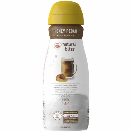 Coffee-Mate Natural Bliss Honey Pecan Flavored Creamer Perspective: left