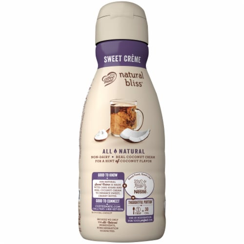Coffee-mate Natural Bliss Coconut Milk Liquid Coffee Creamer Perspective: left